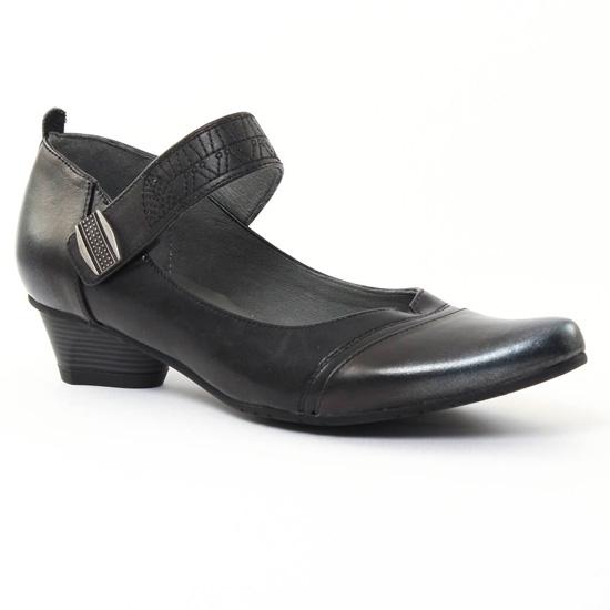 Escarpins Fugitive Tipsy Argent noir, vue principale de la chaussure femme