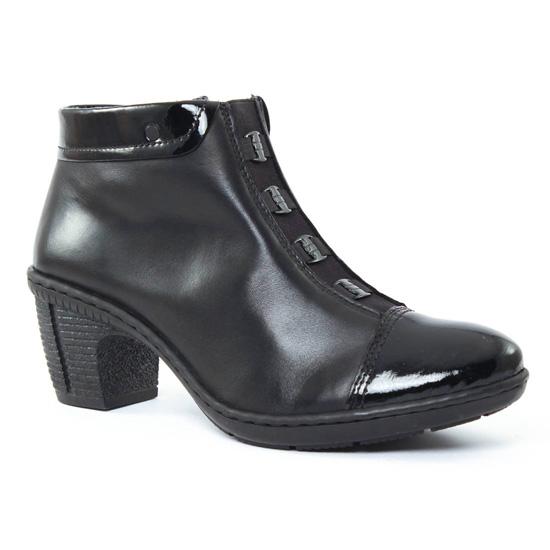 Bottines Et Boots Rieker 50292 Noir, vue principale de la chaussure femme