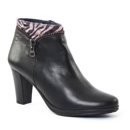 Bottines Et Boots Dorking 6420 Luna Noir, vue principale de la chaussure femme