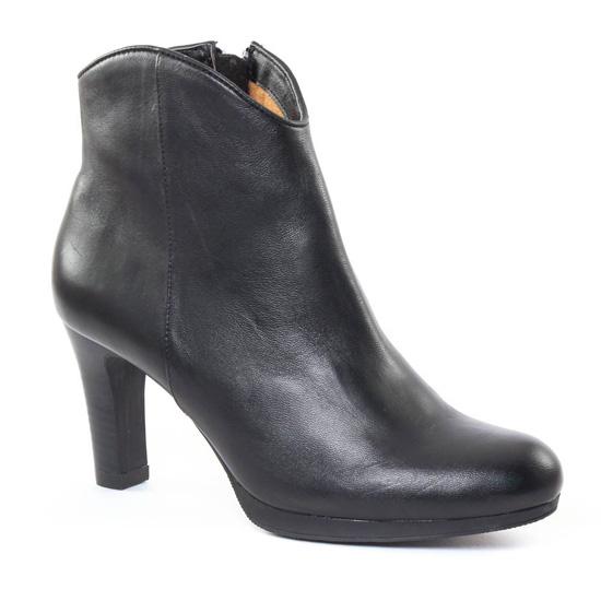 Bottines Et Boots Fugitive Ejea Noir, vue principale de la chaussure femme