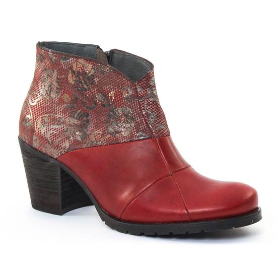 Bottines Et Boots Scarlatine 3644 Rouge, vue principale de la chaussure femme