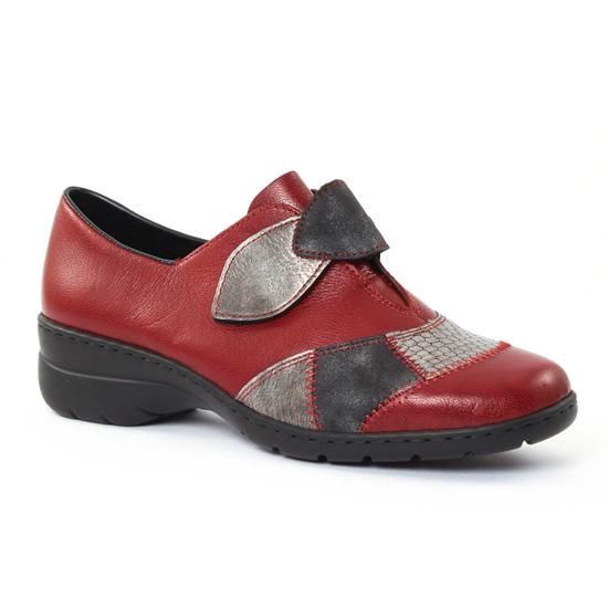 Mocassins Rieker L4350 Vino, vue principale de la chaussure femme