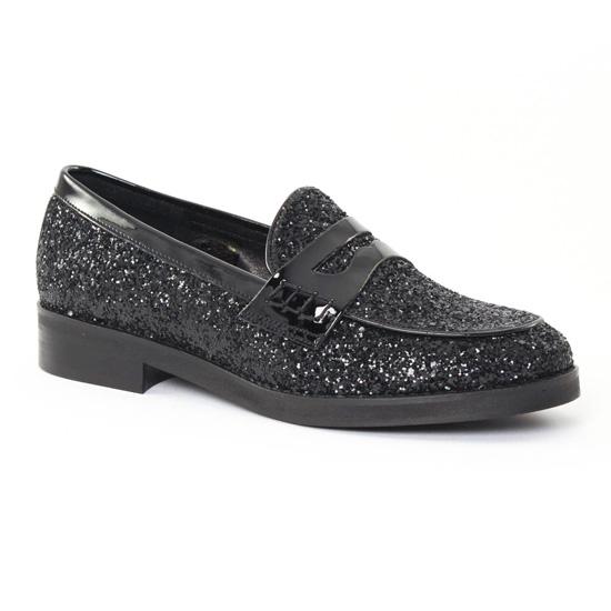 Mocassins Scarlatine 11013c Noir, vue principale de la chaussure femme