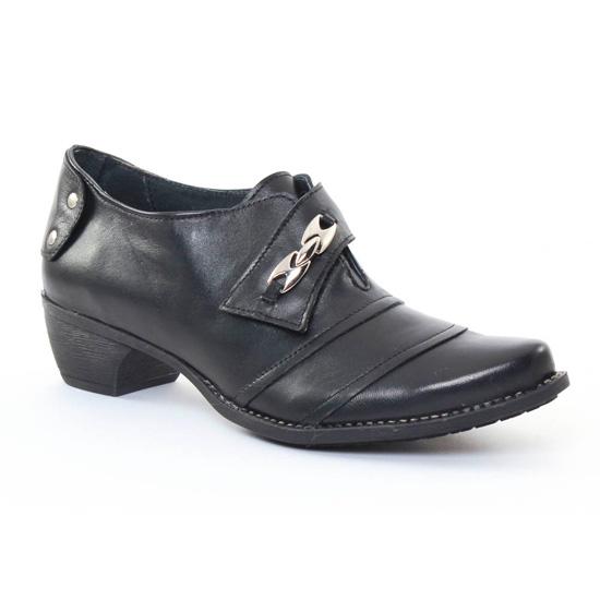 Mocassins Scarlatine 2243 Noir, vue principale de la chaussure femme