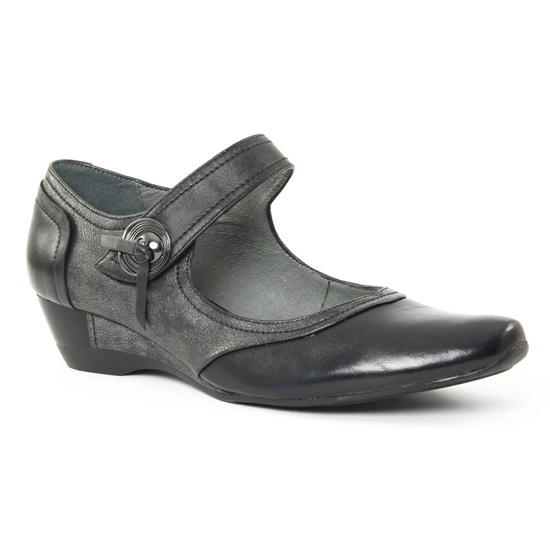 Escarpins Fugitive Santal Noir Métal, vue principale de la chaussure femme