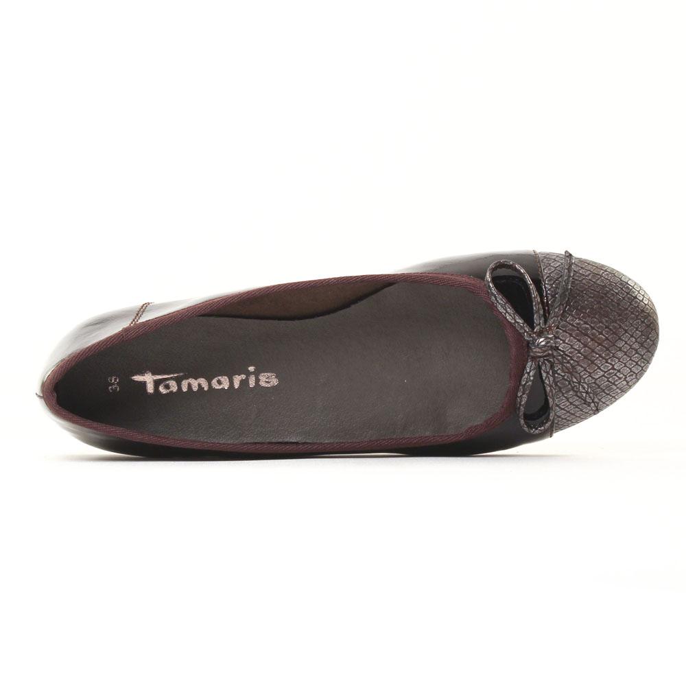 tamaris 22108 wine ballerines noir bordeaux automne. Black Bedroom Furniture Sets. Home Design Ideas