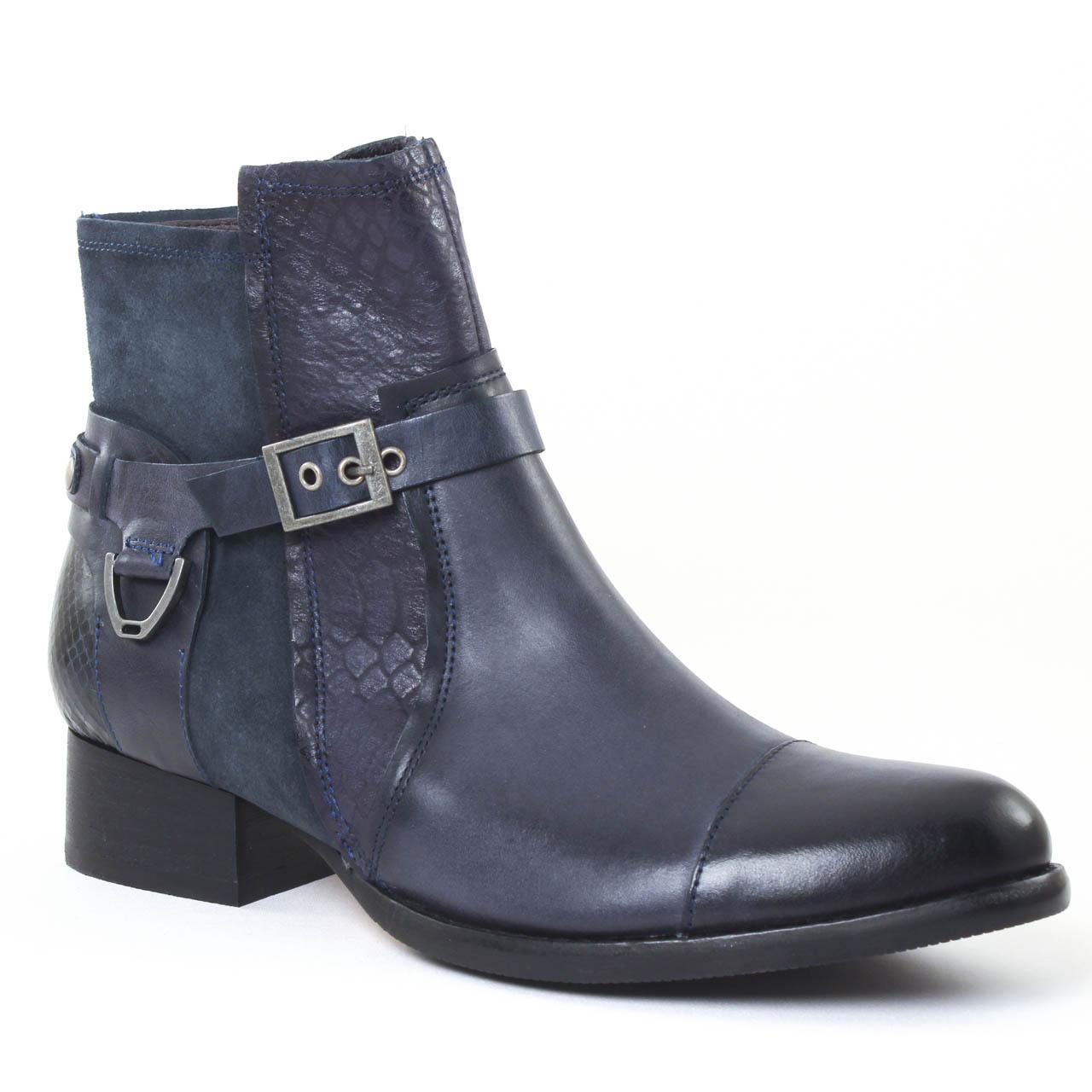 mamzelle jerome compo navy boots bleu marine automne hiver chez trois par 3. Black Bedroom Furniture Sets. Home Design Ideas