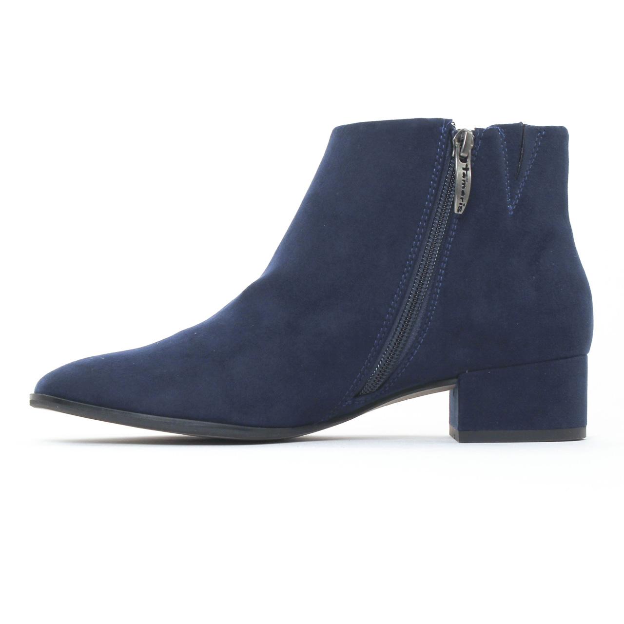 tamaris 25310 navy boots bleu automne hiver chez trois par 3. Black Bedroom Furniture Sets. Home Design Ideas