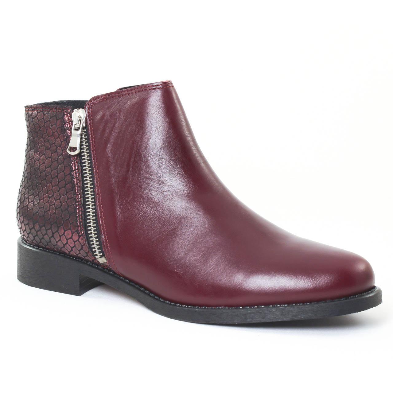 scarlatine serpent bordeaux boots bordeaux automne hiver chez trois par 3. Black Bedroom Furniture Sets. Home Design Ideas