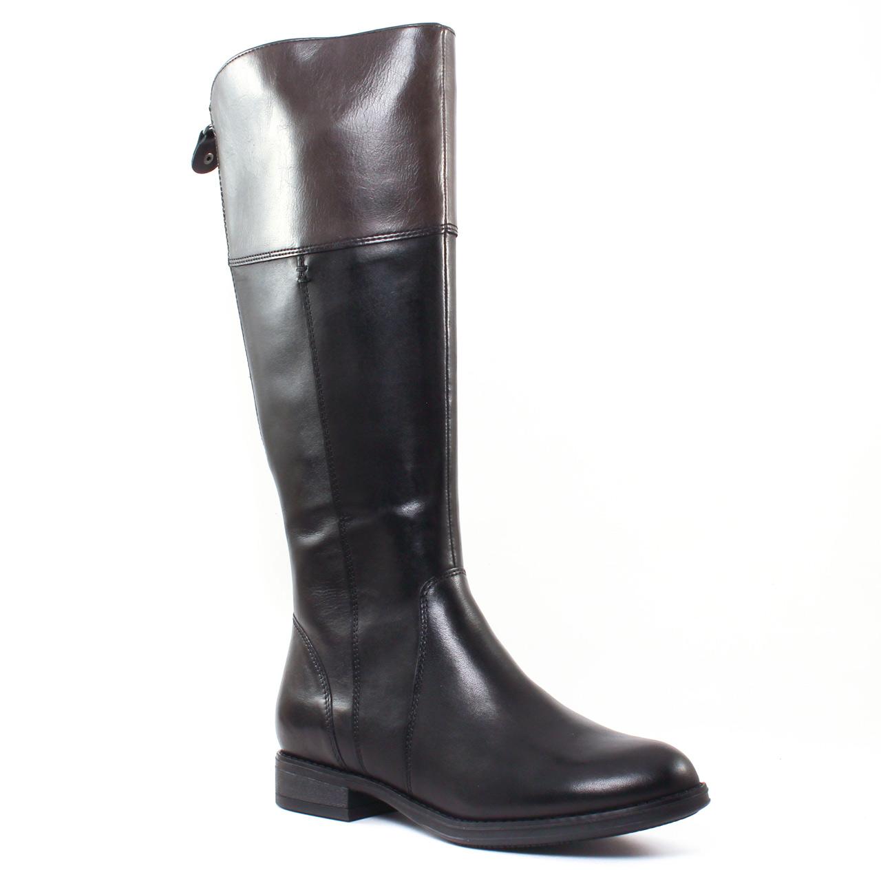 tamaris 25530 black botte cavali res gris noir automne hiver chez trois par 3. Black Bedroom Furniture Sets. Home Design Ideas