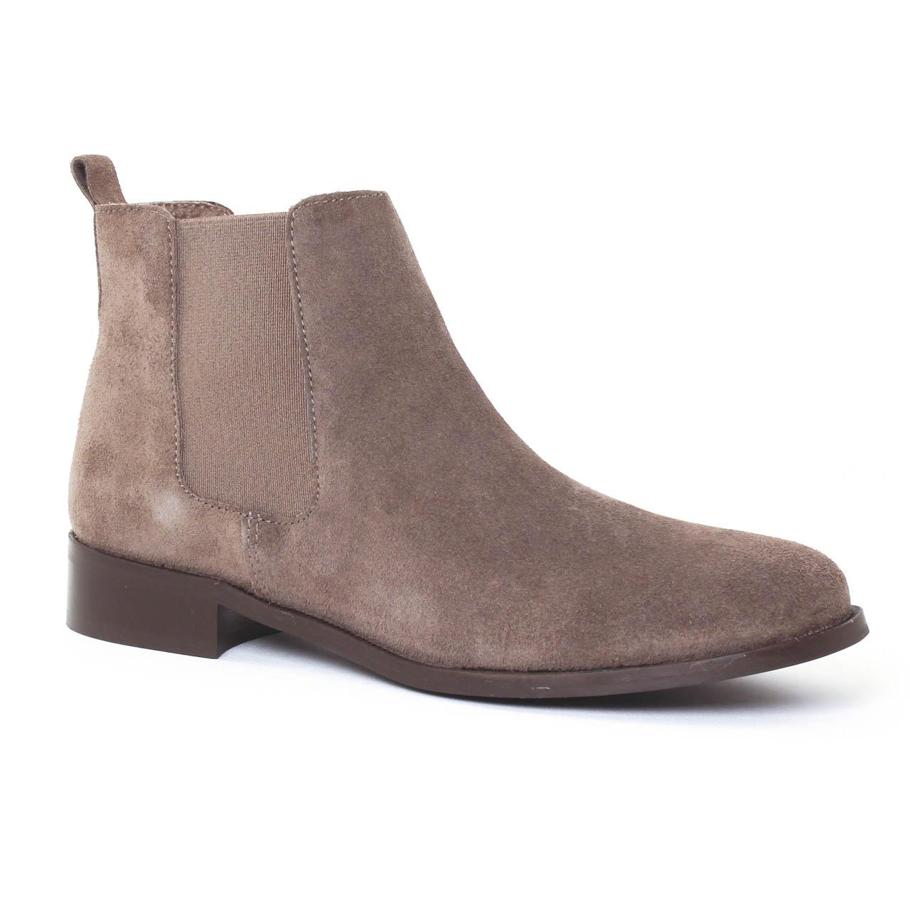 scarlatine 2662a taupe boot lastiqu es beige automne hiver chez trois par 3. Black Bedroom Furniture Sets. Home Design Ideas