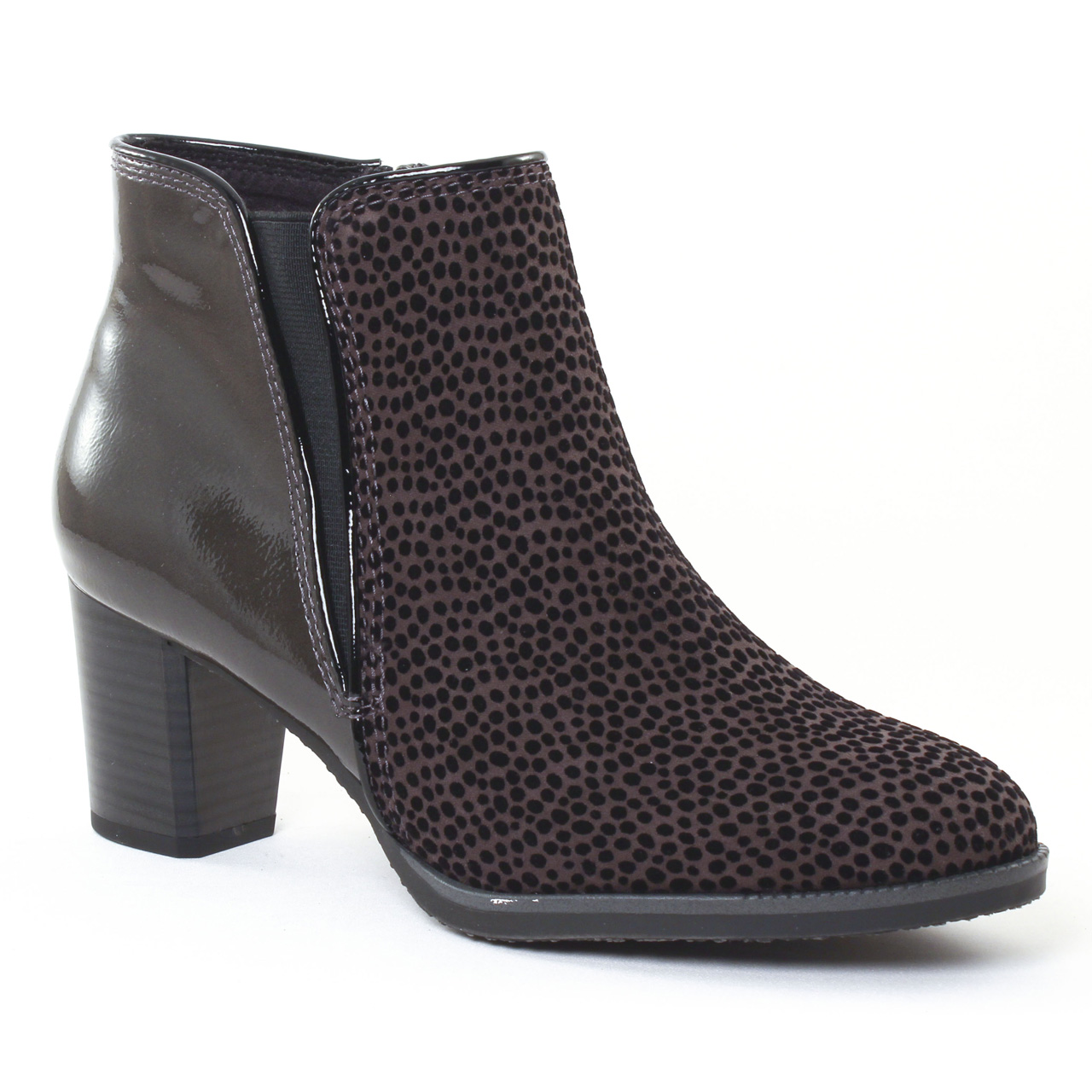 b2ccd4f834344e Chaussures femme hiver 2016 - boots élastiquées marco tozzi gris noir