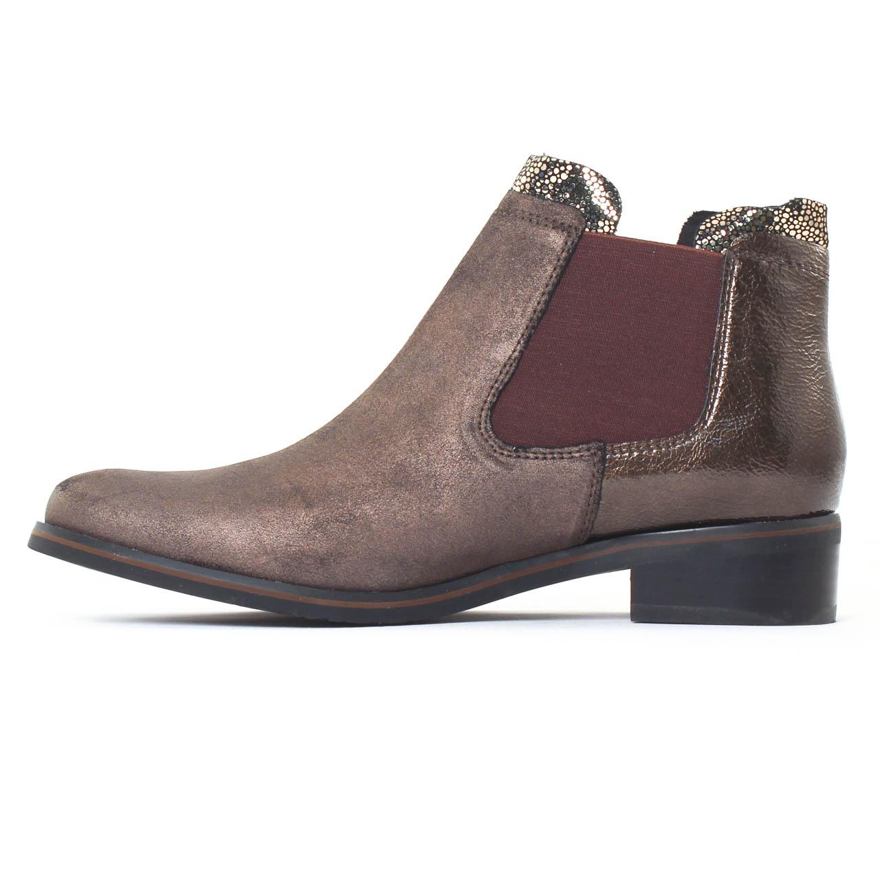 fugitive velvet compo cross brown boot lastiqu es marron dor automne hiver chez trois par 3. Black Bedroom Furniture Sets. Home Design Ideas