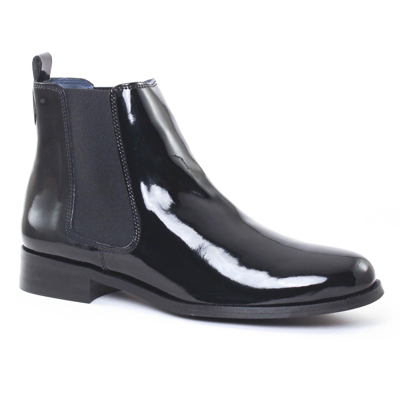 Scarlatine 2662 Noir Vernis Noir | boot élastiquées noir