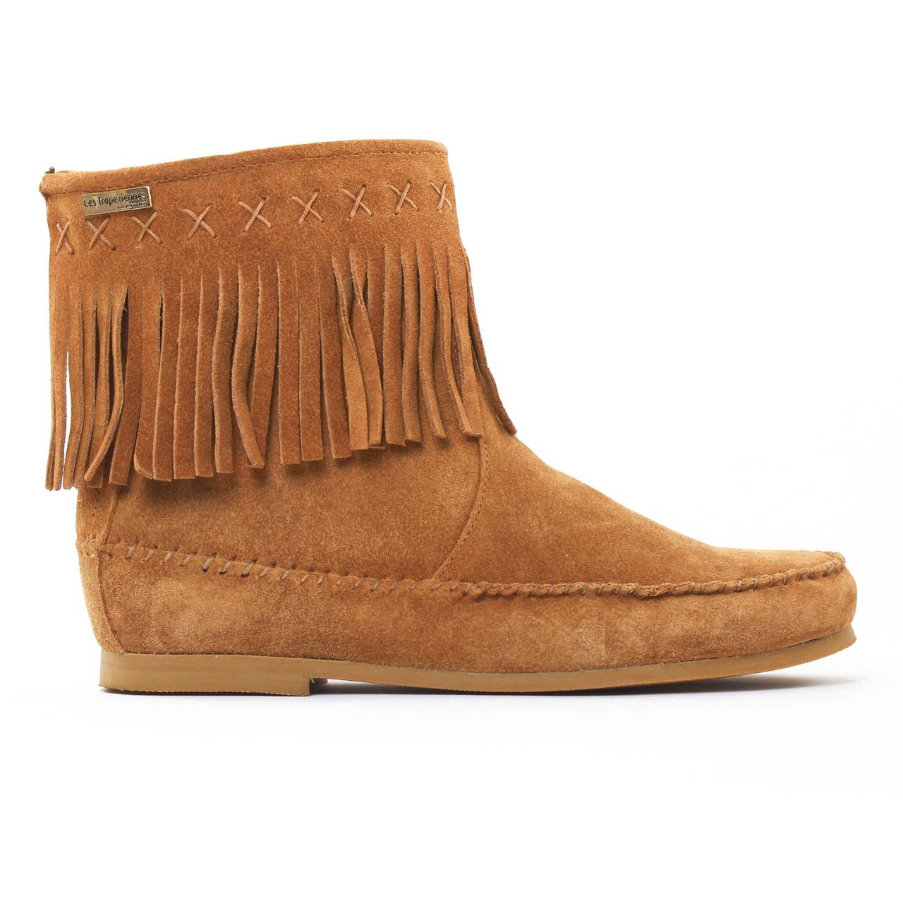 87aac60355ee5c Les Tropeziennes Crabe Camel | boots marron automne hiver chez TROIS ...