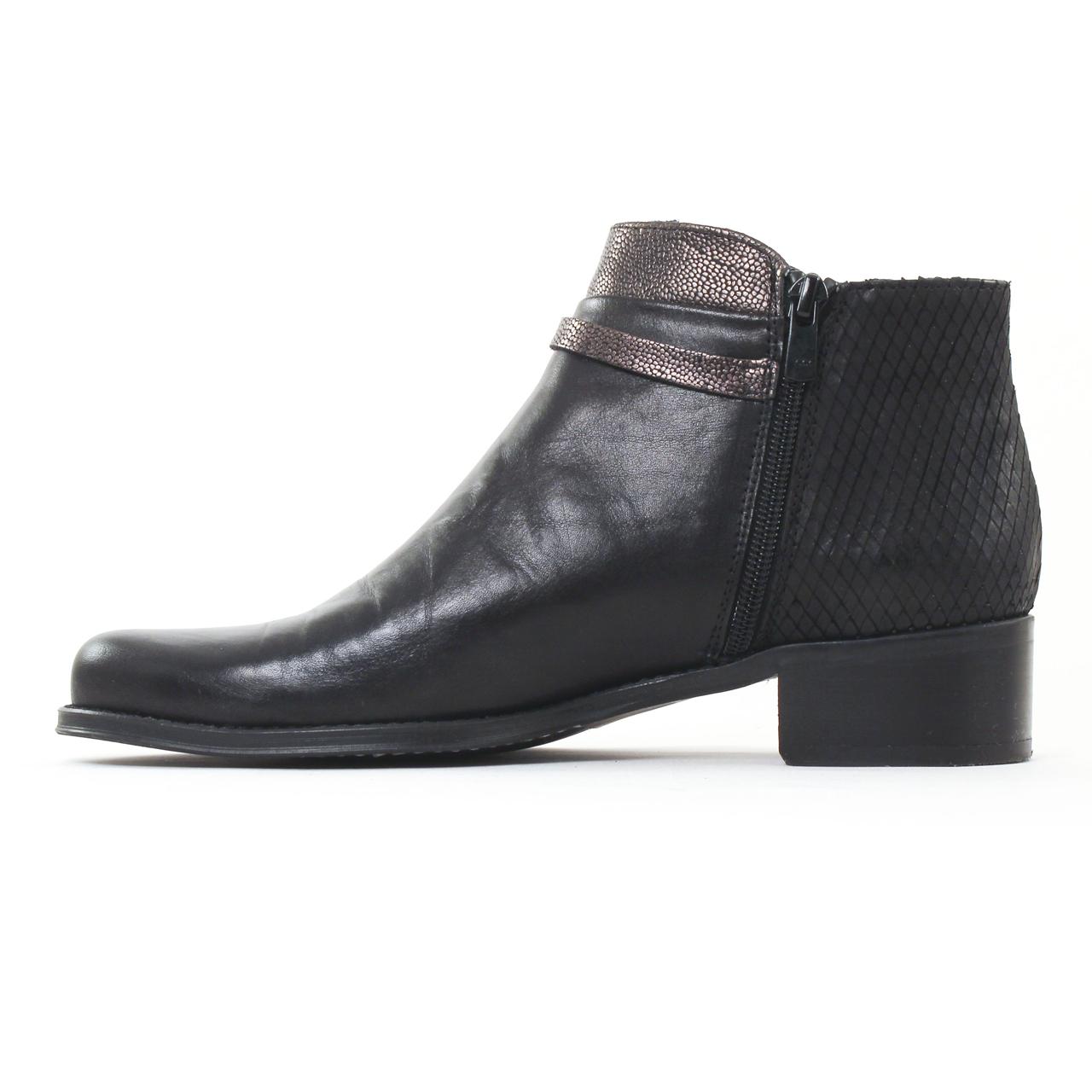 Dorking 6835 Noir | boots noir automne hiver chez TROIS PAR 3