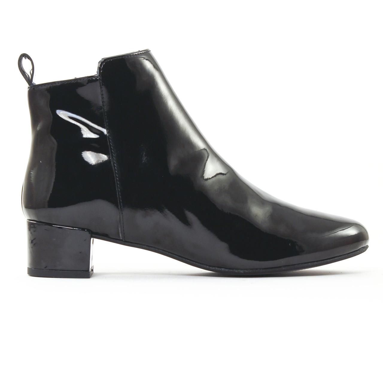 scarlatine 3056a vernis noir boots noir automne hiver. Black Bedroom Furniture Sets. Home Design Ideas