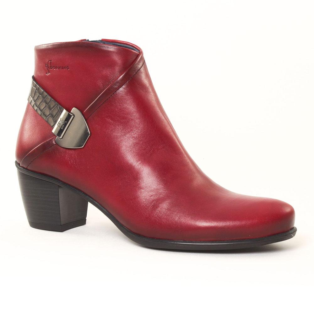 dorking brisda 6885 rouge | boots rouge automne hiver chez trois par 3