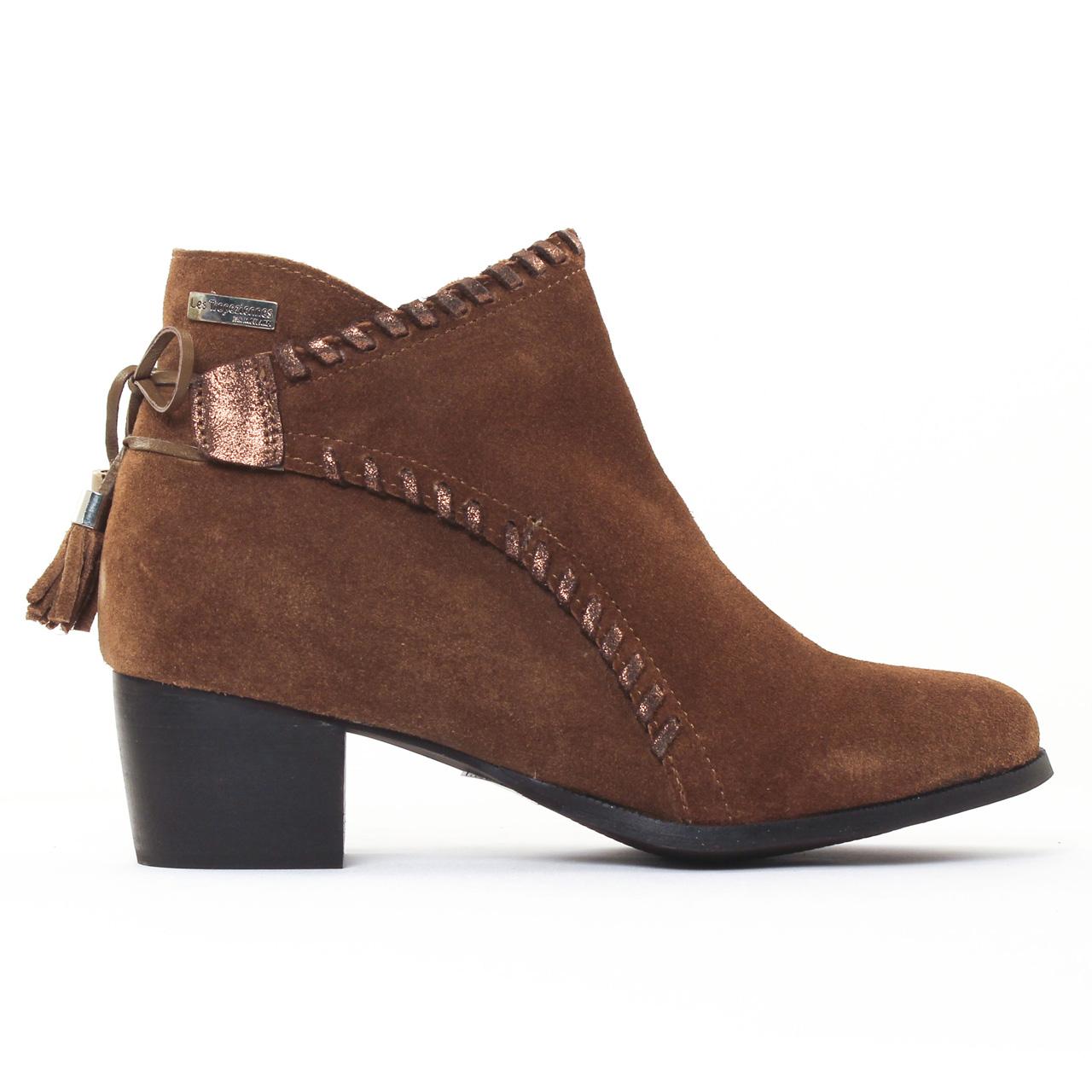 les tropeziennes madrid marron boot talon marron automne hiver chez trois par 3. Black Bedroom Furniture Sets. Home Design Ideas