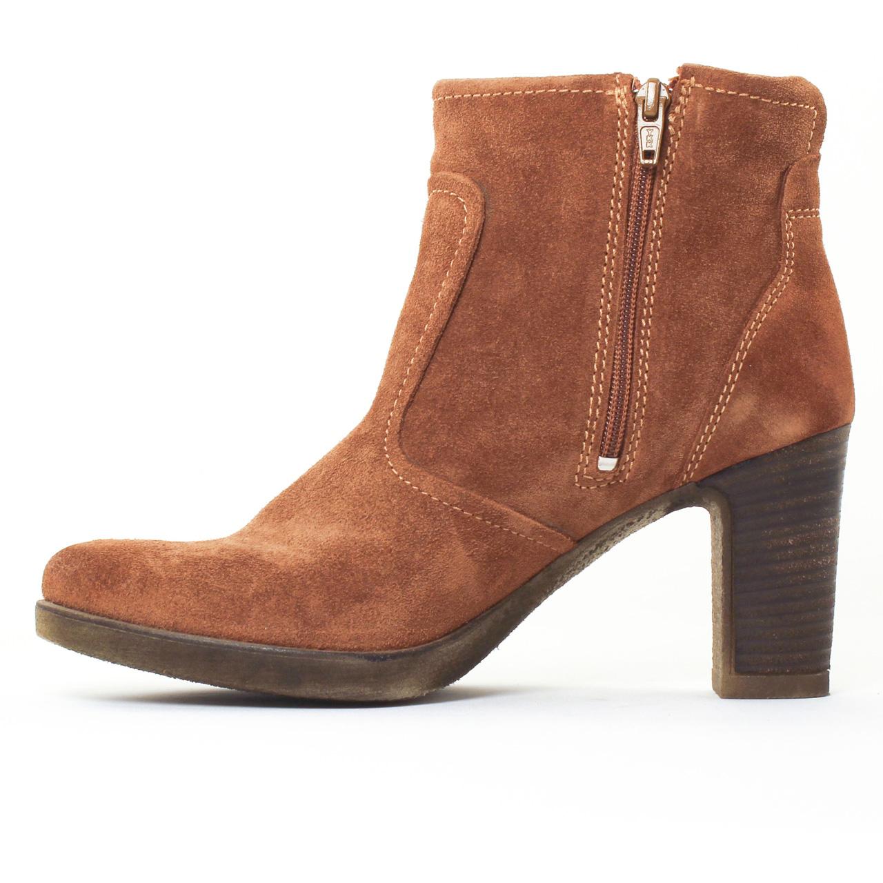 boots talon marron bottines femme pour mode femme. Black Bedroom Furniture Sets. Home Design Ideas