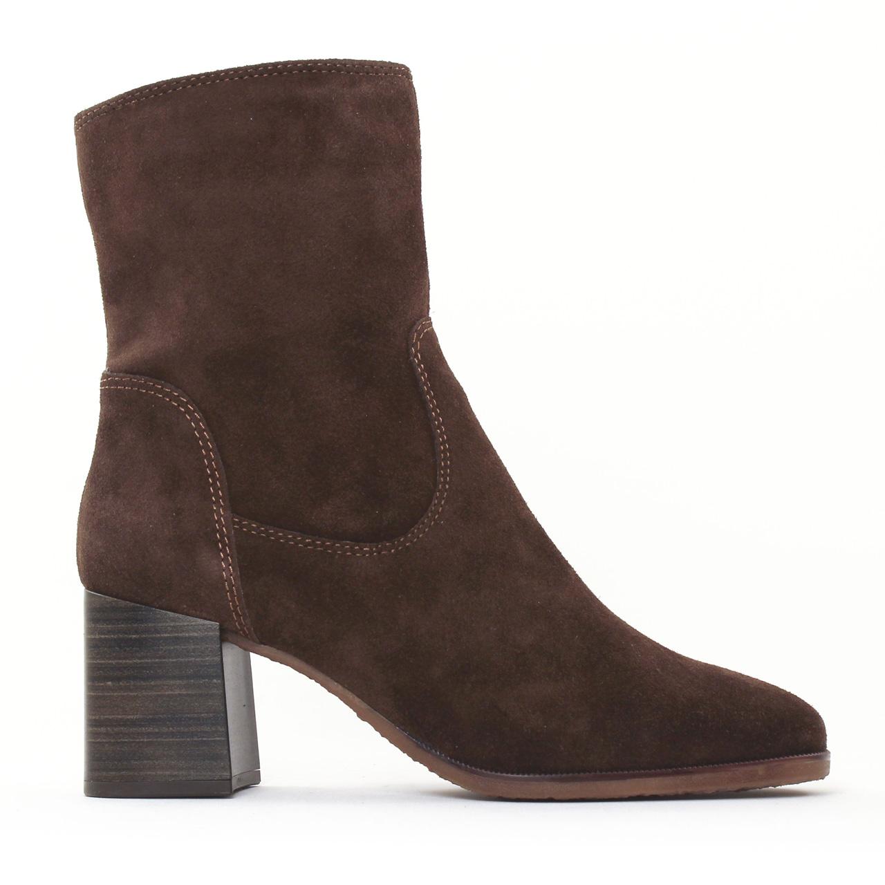ba78412ad Tamaris 25478 Chocolat | boot talon marron automne hiver chez TROIS ...