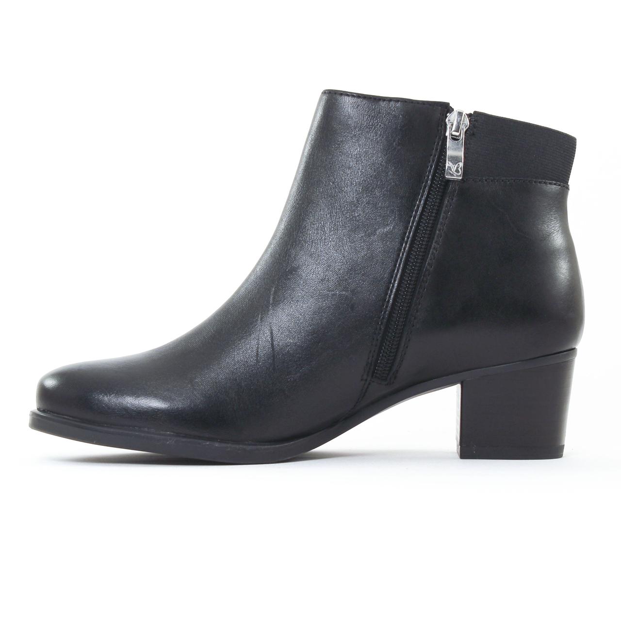 caprice 25348 black boot talon noir automne hiver chez. Black Bedroom Furniture Sets. Home Design Ideas