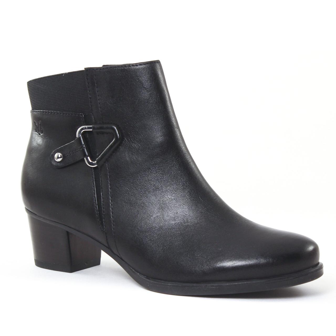 caprice 25348 black boot talon noir automne hiver chez trois par 3. Black Bedroom Furniture Sets. Home Design Ideas