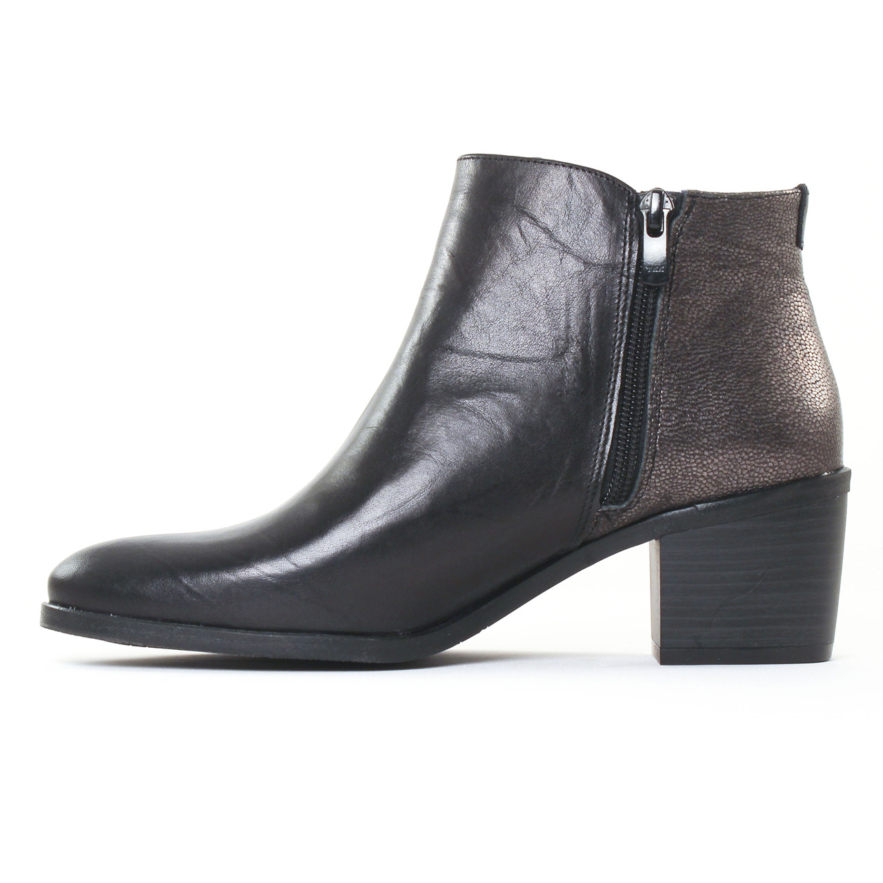 dorking cora 6943 noir boot talon noir bronze automne. Black Bedroom Furniture Sets. Home Design Ideas