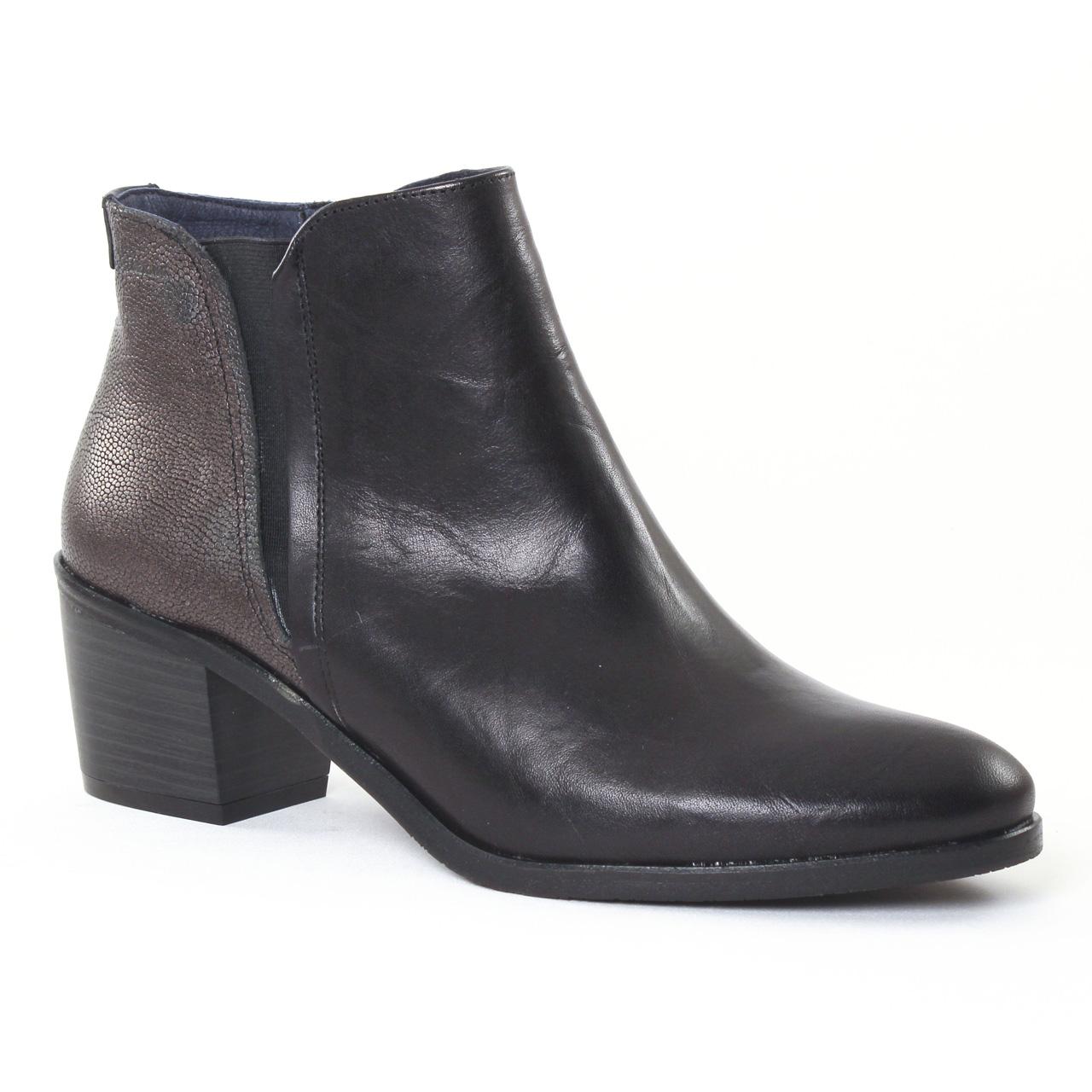 dorking cora 6943 noir boot talon noir bronze automne hiver chez trois par 3. Black Bedroom Furniture Sets. Home Design Ideas