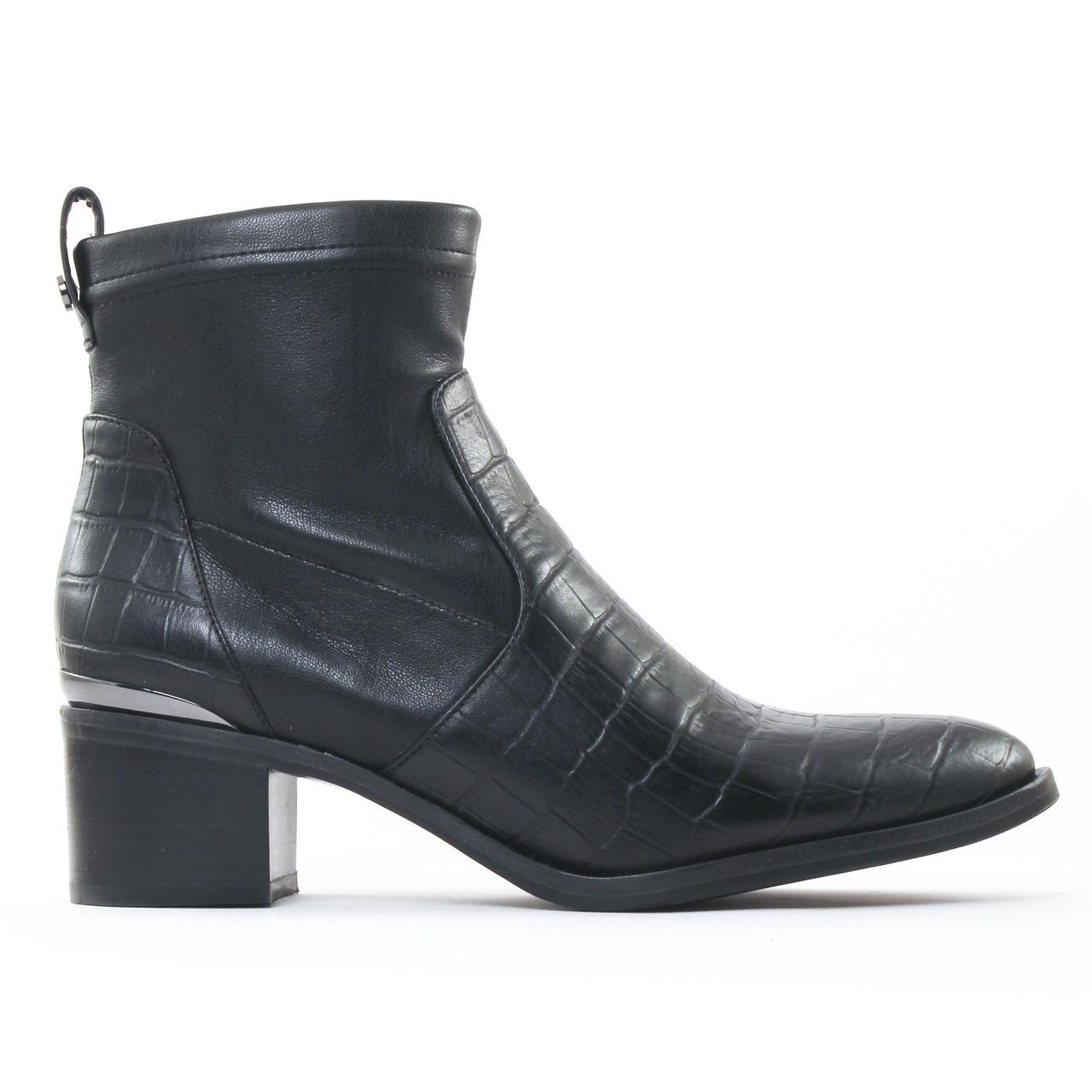 jb martin epure noir boot talon noir automne hiver chez trois par 3. Black Bedroom Furniture Sets. Home Design Ideas