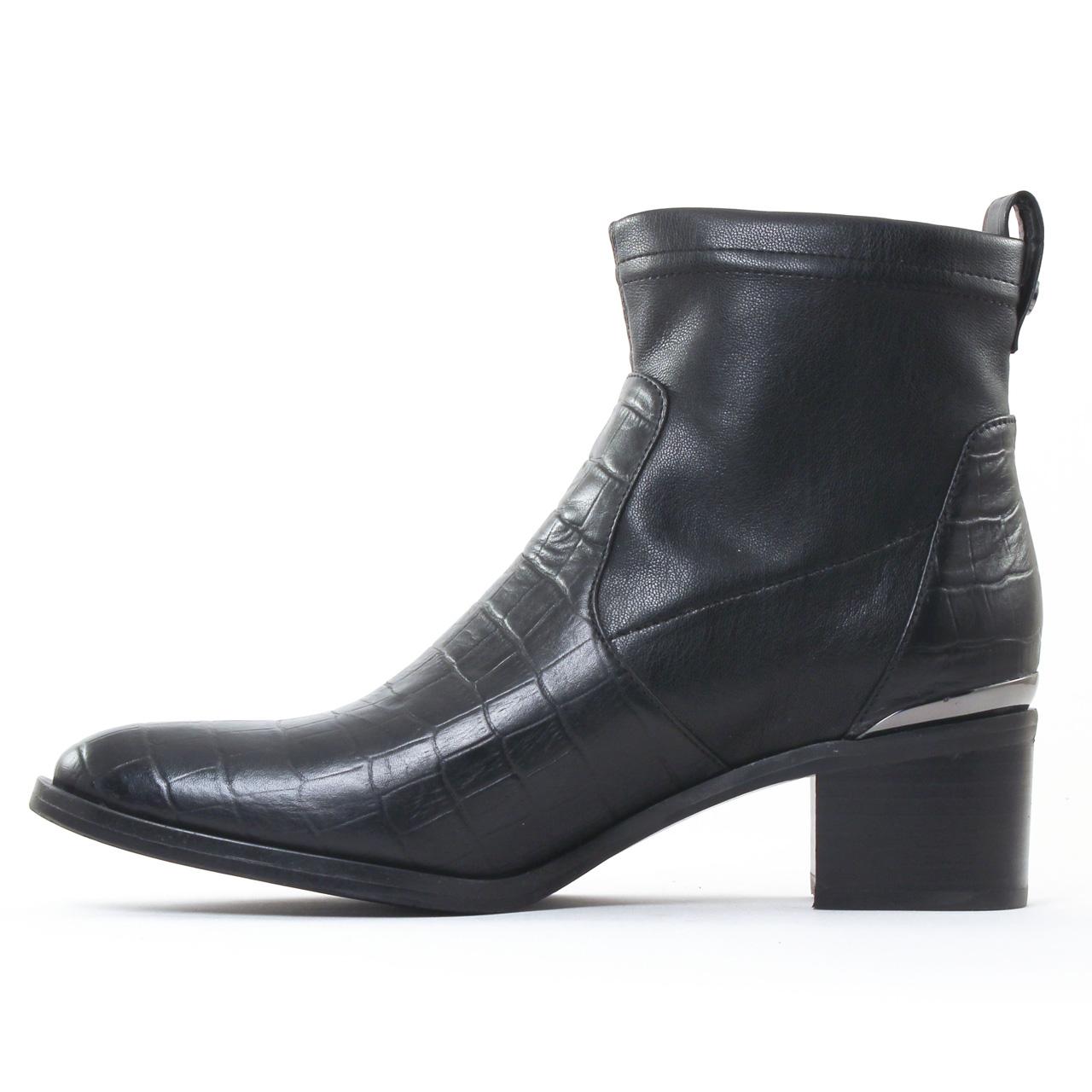 jb martin epure noir boot talon noir automne hiver chez. Black Bedroom Furniture Sets. Home Design Ideas
