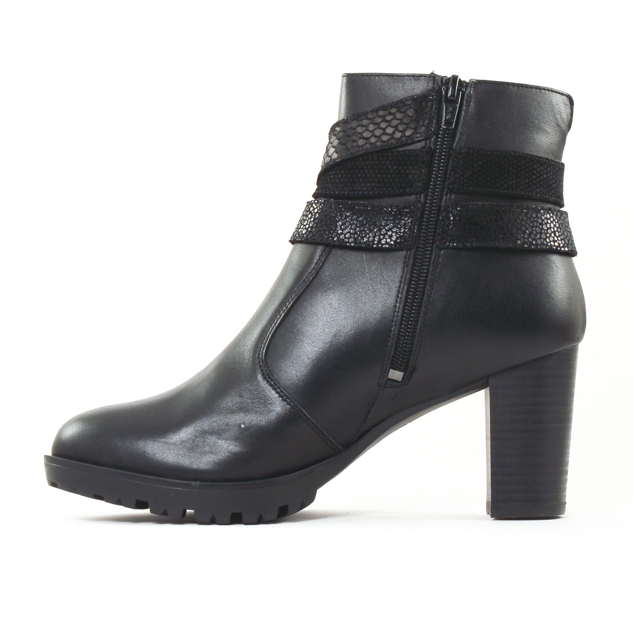 scarlatine 3001 noir boot talon noir automne hiver chez trois par 3. Black Bedroom Furniture Sets. Home Design Ideas