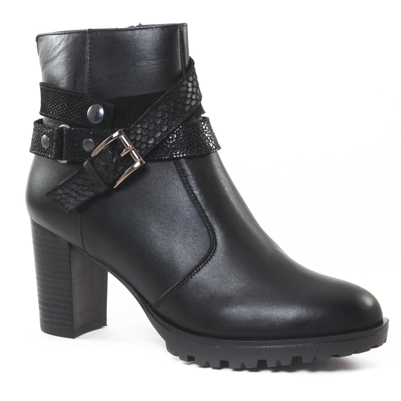 scarlatine 3001 noir | boot talon noir automne hiver chez trois par 3