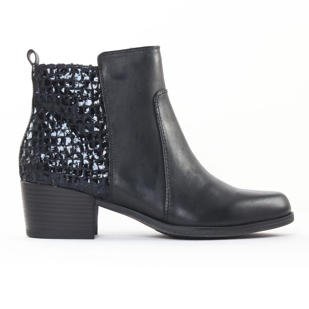 tamaris 25333 black boot talon noir automne hiver chez. Black Bedroom Furniture Sets. Home Design Ideas