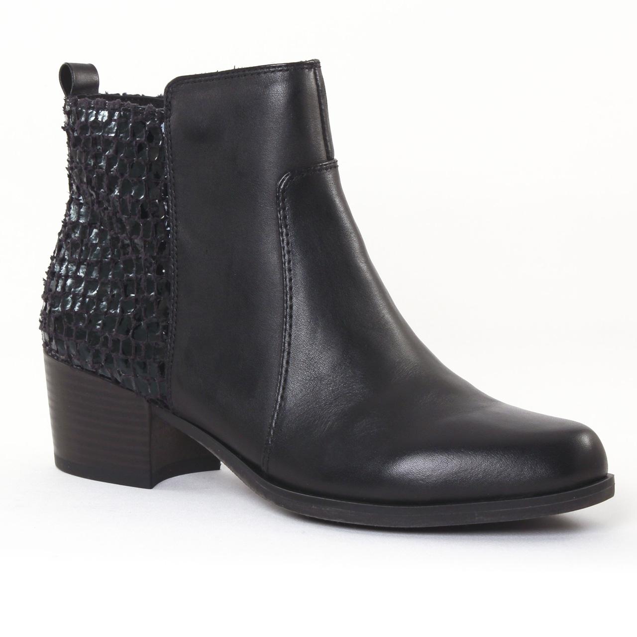 tamaris 25333 black boot talon noir automne hiver chez trois par 3. Black Bedroom Furniture Sets. Home Design Ideas
