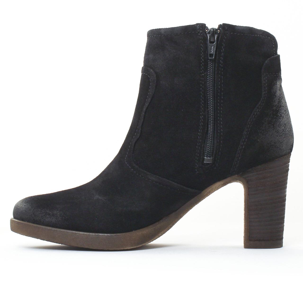 tamaris 25386 black boot talon noir automne hiver chez trois par 3. Black Bedroom Furniture Sets. Home Design Ideas
