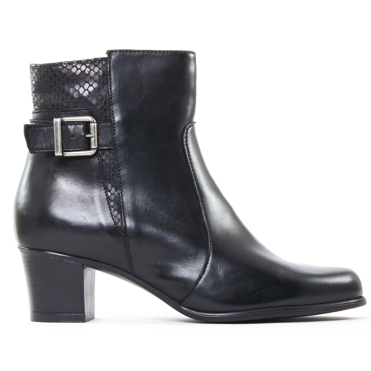 tamaris 25396 black boot talon noir automne hiver chez trois par 3. Black Bedroom Furniture Sets. Home Design Ideas