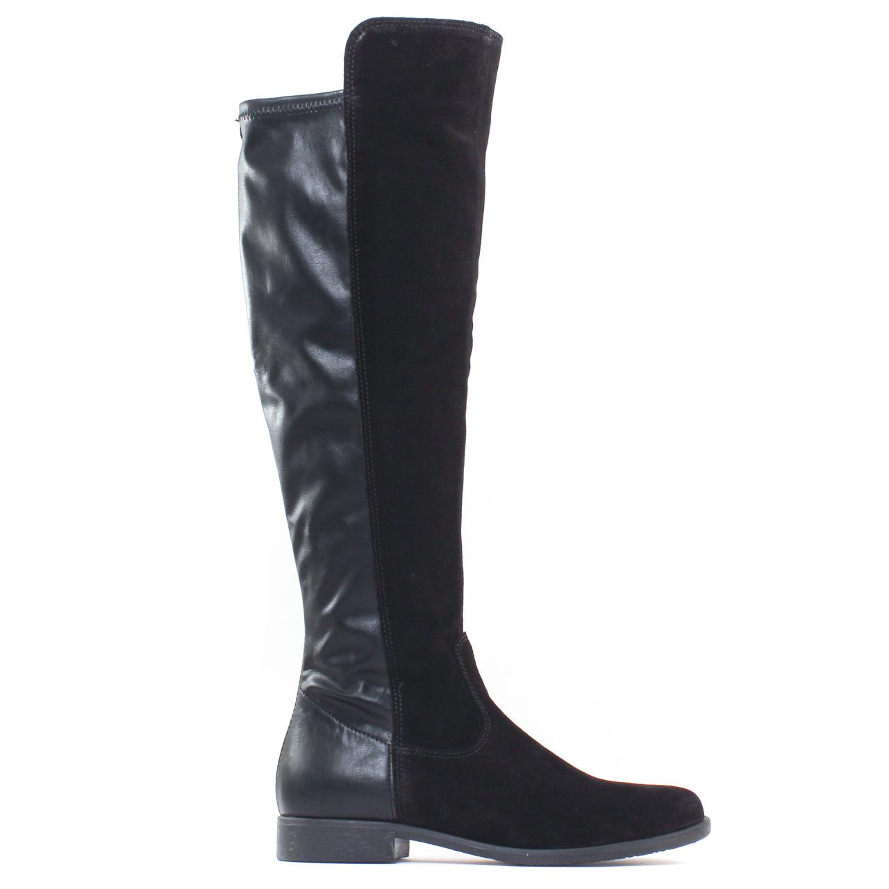 tamaris 25568 black botte cuissardes noir automne hiver chez trois par 3. Black Bedroom Furniture Sets. Home Design Ideas