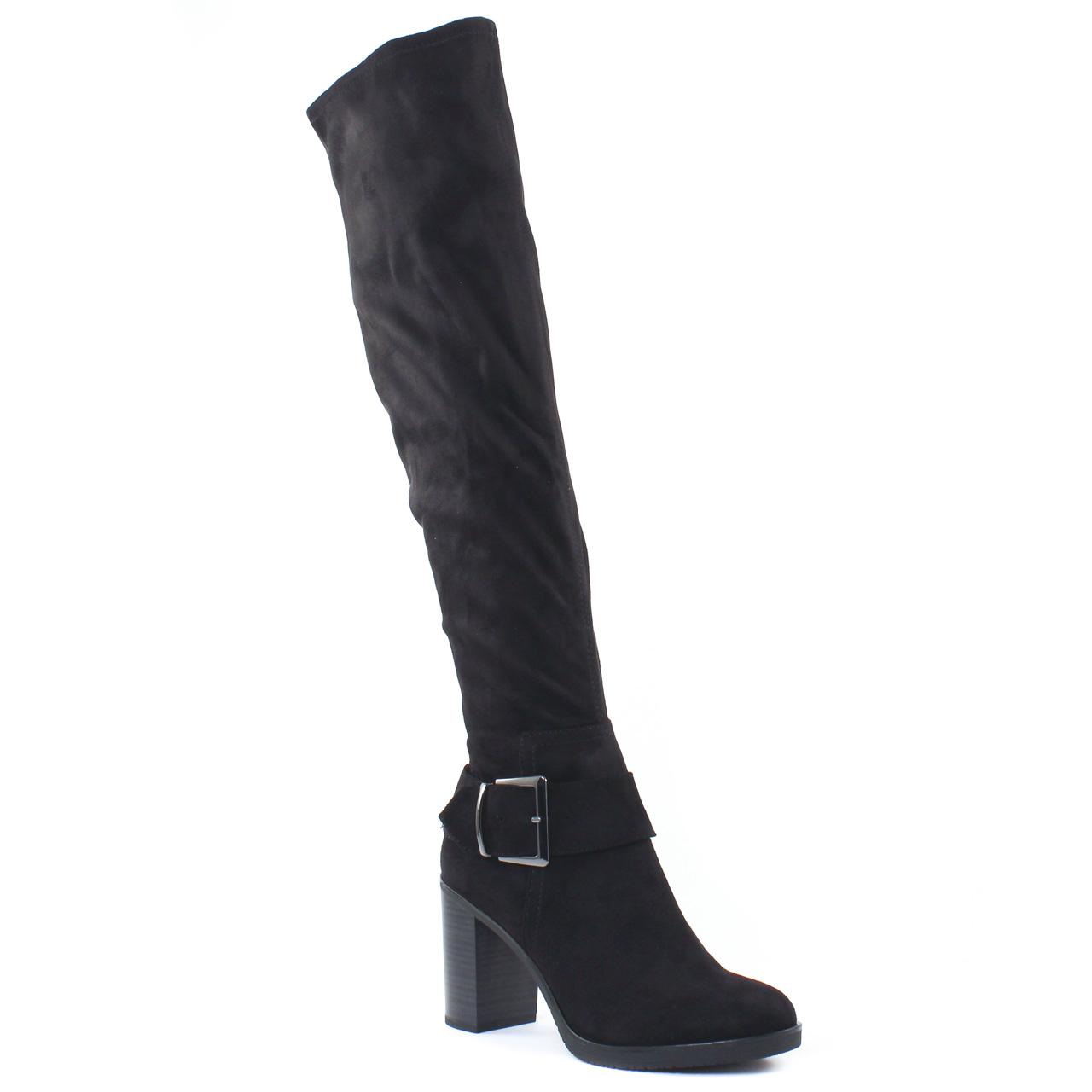 Tamaris 25588 Black | botte cuissardes noir automne hiver