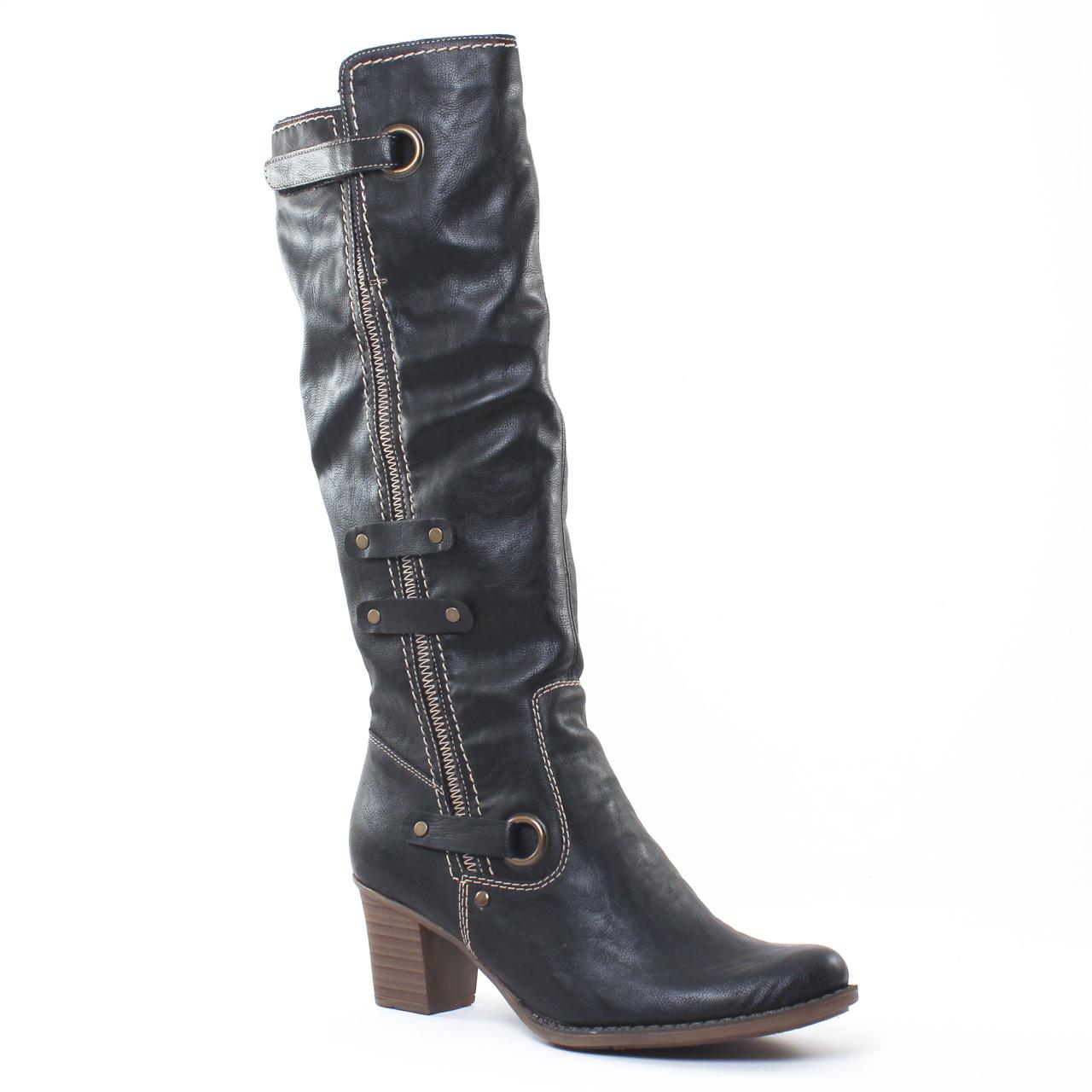 Chaussures femme hiver 2016 , bottes rieker noir