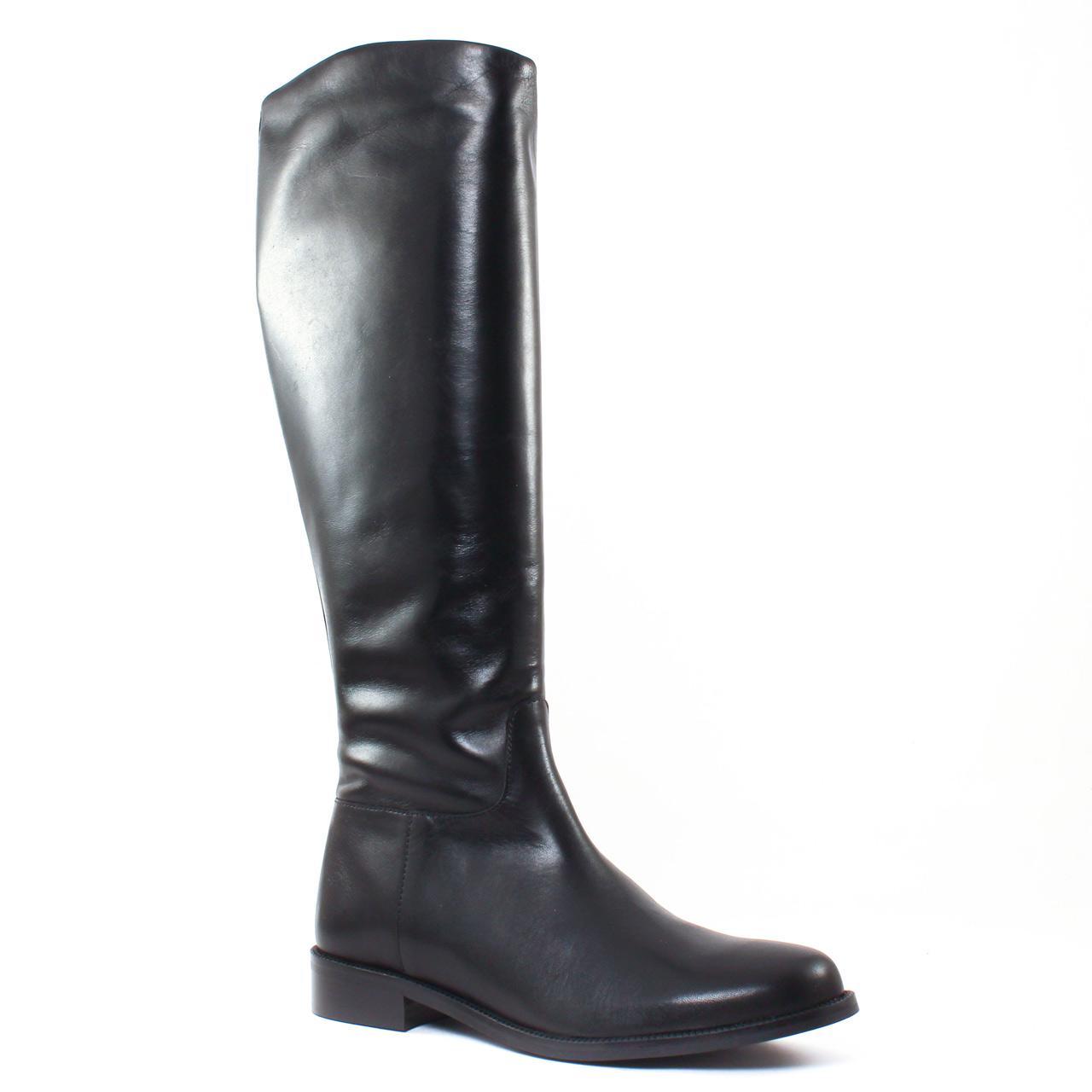 scarlatine 2995 noir   botte cavalières noir automne hiver chez