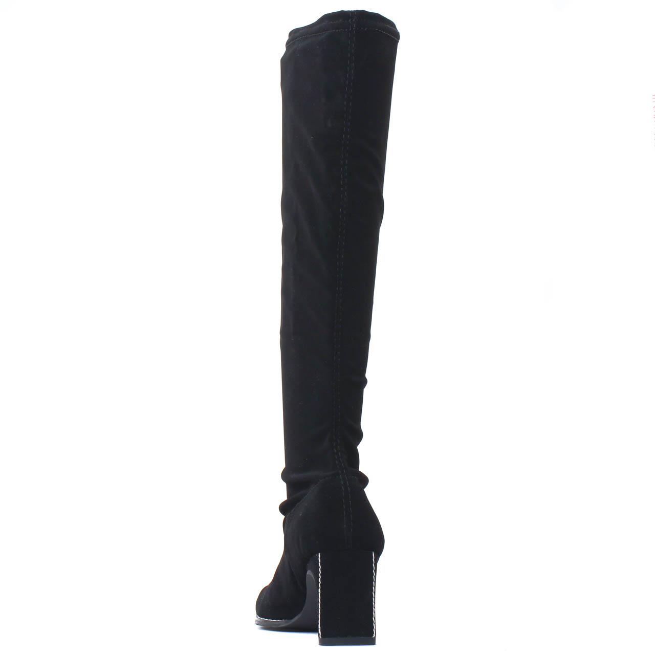 bottes stretch noir mode femme automne hiver vue 7