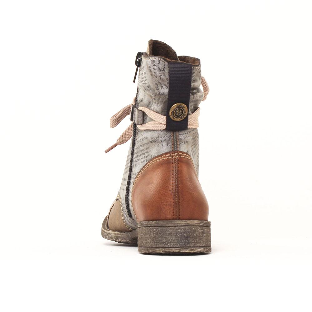 Rieker 70822-24 Brandy   bottine à lacets gris marron automne hiver ... 738712f3bf8e