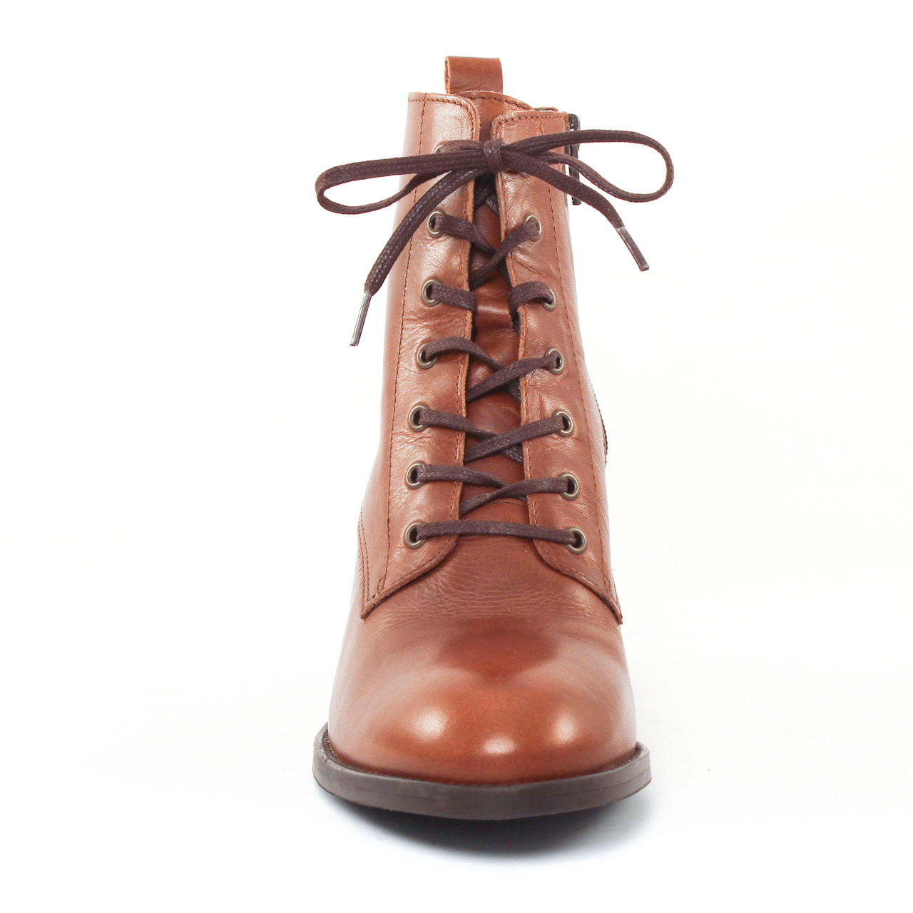 ad1139a2a1f bottines à lacets marron mode femme automne hiver vue 5