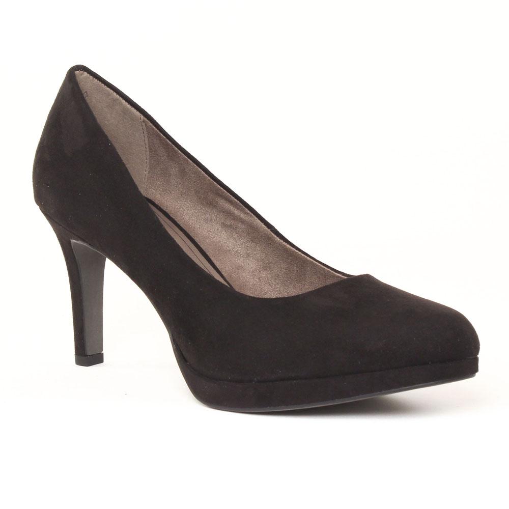 tamaris 22446 black escarpins velours noir automne hiver. Black Bedroom Furniture Sets. Home Design Ideas