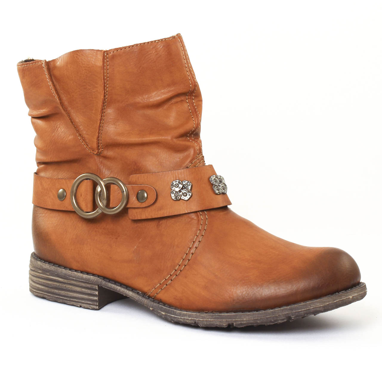 1ce1ed2595df00 Rieker 74798 Cayenne | boots marron automne hiver chez TROIS PAR 3