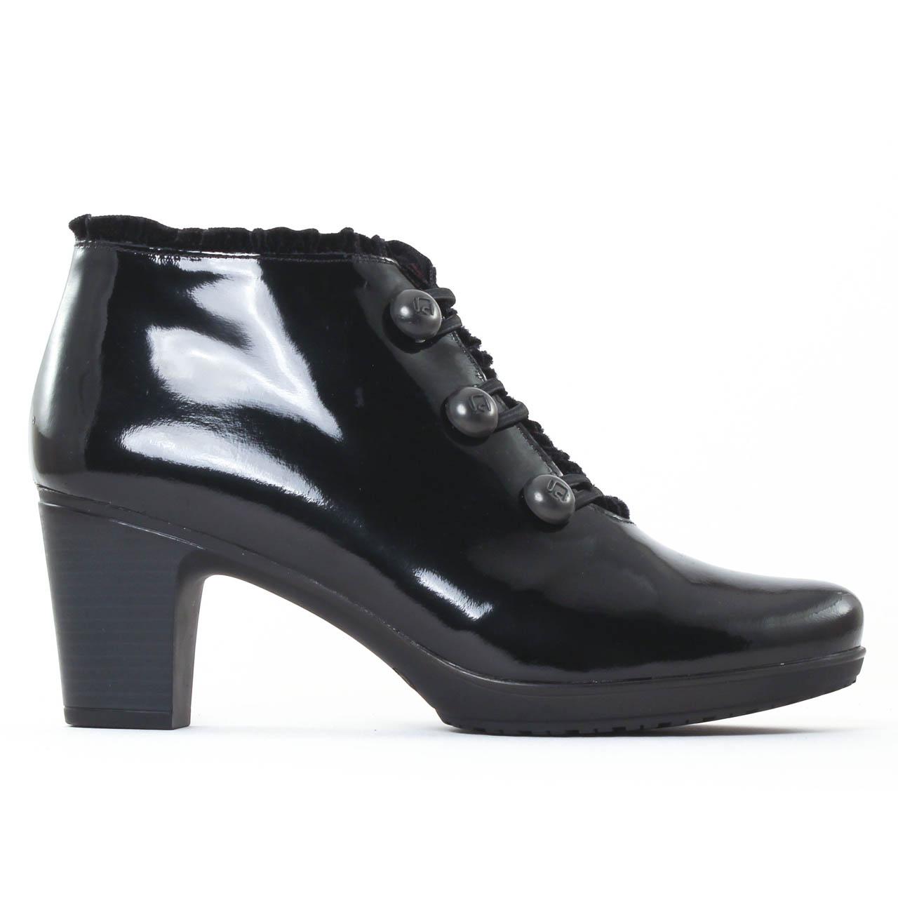 jose saenz 5058 noir low boots vernis noir automne hiver. Black Bedroom Furniture Sets. Home Design Ideas