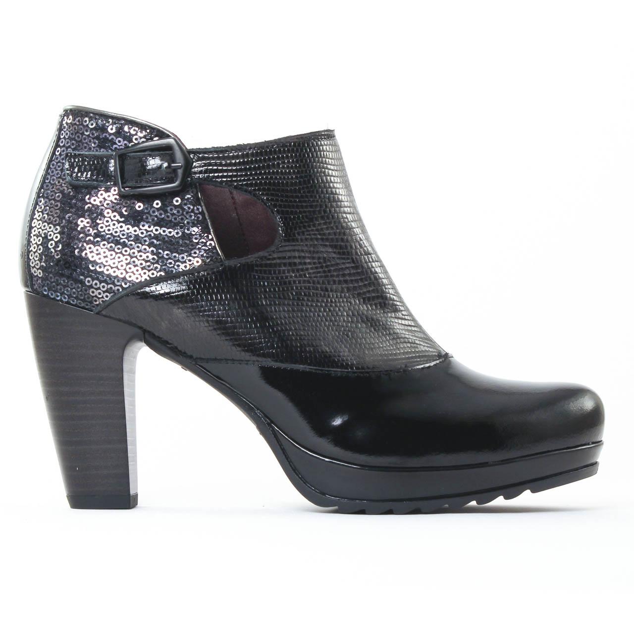 jose saenz 7033 noir low boots vernis noir automne hiver. Black Bedroom Furniture Sets. Home Design Ideas
