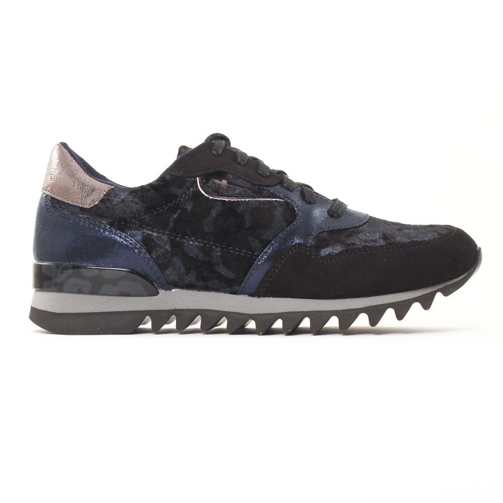 Tamaris 23610 Navy | tennis bleu noir automne hiver chez
