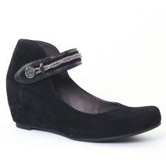 ballerines-talons-compenses nubuck noir: même style de chaussures en ligne pour femmes que les Scarlatine